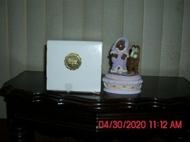 2 NEW IN BOX HERITAGE HOUSE PLAYFULL TEDDY BEARS & MUSICAL BIRD - $19.79