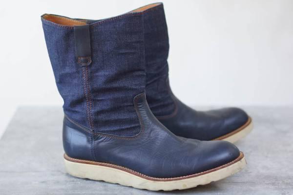 TENKUMARU pecos boots denim US 7.5 Made in Japan  image 2