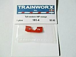 Trainworx Stock #181-4 Snowplow Tall Western WP Orange N-Scale image 2