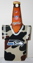 SEATTLE SEAHAWKS NFL CAMO BOTTLE DRESS COOZIE KOOZIE KOLDER NEW - $5.93