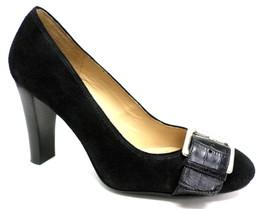 Michael KORS Black Suede Leather Heels Pumps 7.5 or Shoes 7 1/2 - $34.00