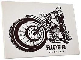"Pingo World 0725QQV0POS ""Rider Biker Club Motorcycle"" Gallery Wrapped Canvas Wal - $58.36"
