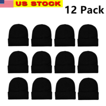 12 Pack Winter Unisex Beanie Cap Hats for Men Women Warm Cozy Knitted Wh... - $27.71