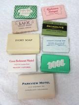 Lot 9 1940's-50's Vintage Hotel Motel Travel Soaps Ivory Lux Cashmere Bo... - $15.35
