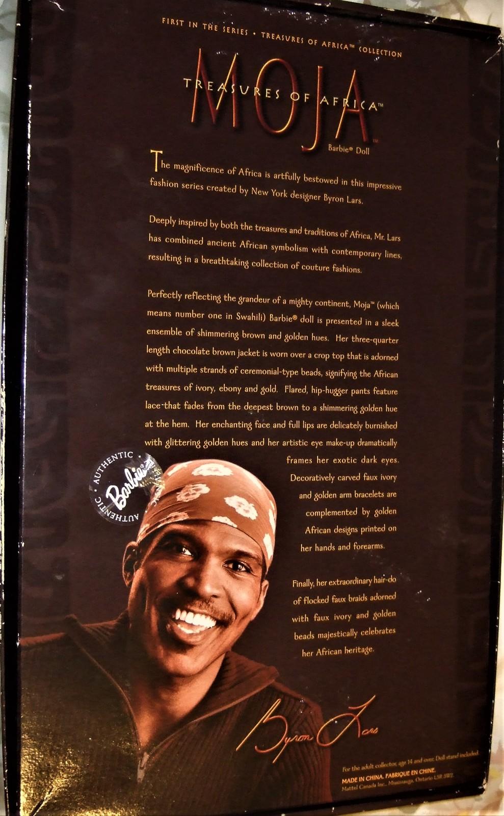 Barbie MOJA Barbie Treasures of Africa by Byron Lars 1st in the Series MIB image 7
