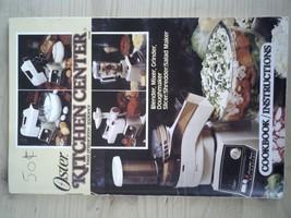 Oster Kitchen Center Food Preparation Appliance Cookbook/Instruction - $10.88