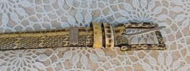 NINE WEST Genuine Snakeskin Leather Belt L Large - $30.00