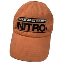 One Hundred Percent Nitro Orange Adjustable Adult Ball Cap Hat - $12.86