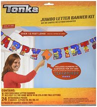Amscan Tonka Jumbo Add-An-Age Letter Banner - $6.88