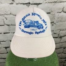 De Anza Ready Mix Borrego Springs Trucker Hat Mesh SnapBack White Vintage - $17.82