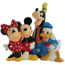 Walt Disney's Mickey and Friends Ceramic Salt and Pepper Shakers, NEW UN... - $28.98