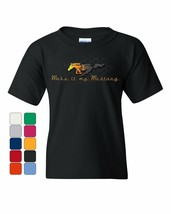 Make it My Mustang Youth T-Shirt Honeycomb American Classic Fire Horse K... - $9.40+