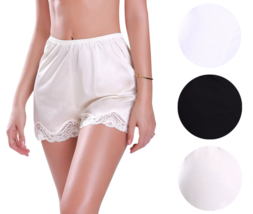 Illusion Women's Premium Nylon Daywear Bloomer Slip Pants With Lace Trim 1039