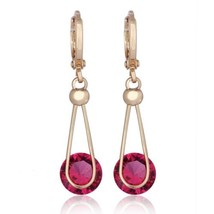 Lifelong Love AAA Zircon Earrings    gold plated red zircon - $10.44