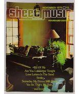 Sheet Music Magazine November 1979 Standard Edition - $3.99