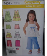 Toddler Sewing Pattern Tops & Bottoms Sizes 1/2-4 UNCUT - $1.99