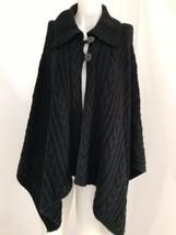 Talbots Black Shawl Sweater - Women's One Size - $28.49