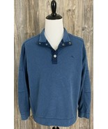 Tommy Bahama Pullover Fleece Men's Large 1/4 Snap Heather Blue 100% Poly... - £18.02 GBP