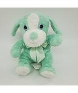 "9"" Fiesta Puppy Dog Baby Rattle Lovey Plush Stuffed Security Toy Green  B89 - $14.97"