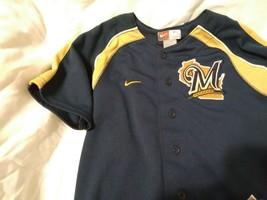 Nike Mlb Milwaukee Brewers Prince Fielder  Baseball Kids Sz 7 Jersey - $20.59