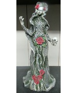 Halloween Mother Nature Statue with Skulls, Roses - $18.25