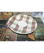 Dura Print by Homer Laughlin Green and Brown Plaid  4 tea Saucers 6 inches wide - $22.12