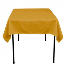 Tablecloth Overlay 60x60 - 100% Polyester Overlay - GOLD - $8.00