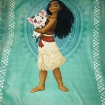 Disney Moana Plush Fleece Warm Blanket- Crib Size Toddler Throw - $25.07