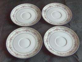 "4 Noritake China Glenwood 5770 Diseño Rosa 6"" Platillos Plato para Tazas... - $24.81"