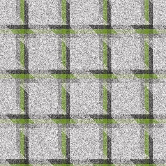 1.375 yds Camira Upholstery Fabric Landscape Balance Plaid Wool Green LDB02 HI