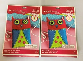SET OF 2 BRAND NEW AMERICAN GIRL  CRAFTS TECH CASE SEWING KIT, FREE SHIP... - $6.92