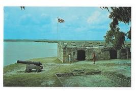 GA Fort Frederica St Simons Island Georgia Cannon National Monument Vtg Postcard - $4.99
