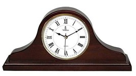 Best Mantel Clock, Silent Decorative Wood Desk Clock, Battery Operated, ... - $80.47