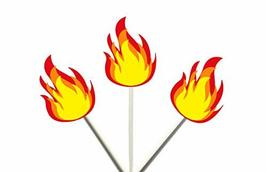 Crafty Cue FIRE Flame Cupcake Toppers, Fire Cupcake Toppers - $11.99