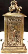 Antique Chinese Metal Figural Hidden Box Food Dog Top 4 Courtesans 18th ... - $499.99