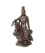 16 Inch Water and Moon Kuan Yin Buddhist Bronze Finish Statue Figurine - $99.99