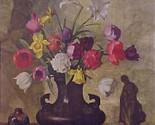 69322a floral bouquet calendar art print lithograph 1940s thumb155 crop