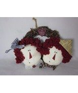 """Vine Wreath with Raggedy Ann and Andy I Love You 6"""" - $14.84"""