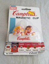 Campbell's Soup Eating Kids Magnetic Clip Refrigerator Magnets NIP NOS A... - $9.20