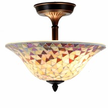 Tiffany Style Ceiling Lamp Victorian Stained Glass Home Décor Desk Lamp - $54.99