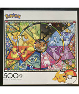 Buffalo Games Pokemon Eevee's Stained Glass Puzzle 500 Pieces Brand New ... - $19.06