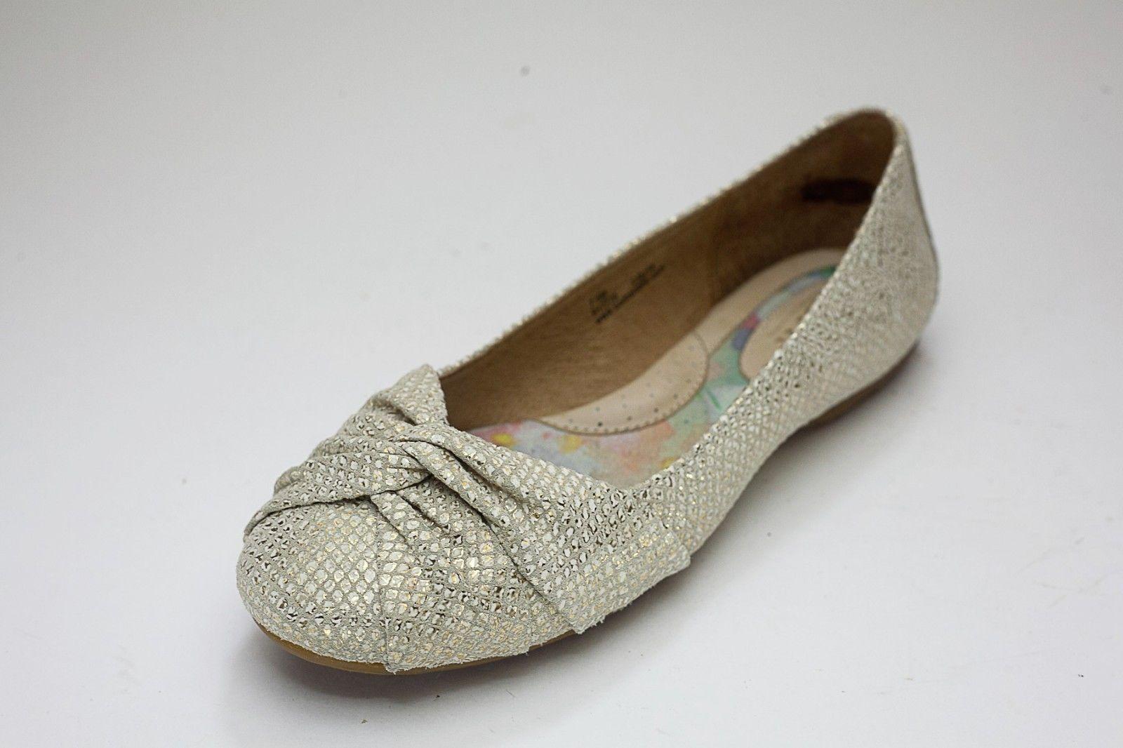 Born 7.5 Gold Ballet Flat Slip On