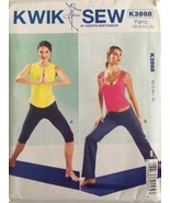 Kwik Sew Pattern K3988 Misses Pull-On Yoga Athletic Exercise Pants XS-XL... - $12.99