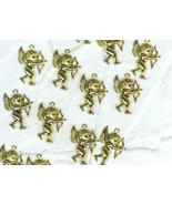 17 Angel Cherub Charms Brass Valentine Craft Jewelry Ornaments - $5.00