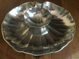 Wilton Armetale Shell Platter 2 pc Sauce & Hors D'oeuvres Shrimp Dip Serving Set - $27.12