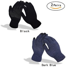 Mens and Womens Screen Knitted Non-slip Gloves Soft Woolen Winter Gloves... - $26.64