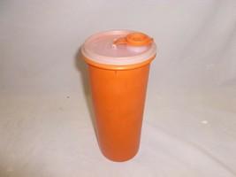 Vtg Orange Tupperware Canister Juice Pitcher Pour Spout Lid Spaghetti 26... - $12.99