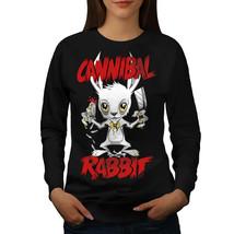 Cannibal Jumper Funny Cute Rabbit Women Sweatshirt - $18.99