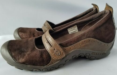 Merrell Performance Plaza Bandeau Chocolate Brown Mary Janes Ortholite Shoes 8 image 6