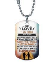 TO MY LOVE DOG TAG - I LOVE YOU SO MUCH - CUSTOM GIRLFRIEND & BOYFRIEND ... - $19.75